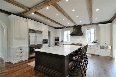 zinc kitchen hood transitional kitchen insidesign