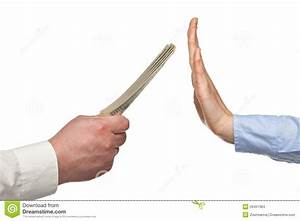 Human Hands Rejecting An Offer Of Money Stock Photo ...