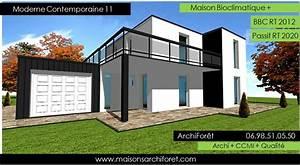 maison Contemporaine moderne et design d architecte constructeur ossature bois plan photo et