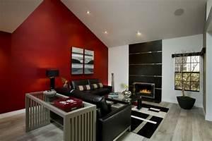une idee peinture de chambre adulte pour l39ambiance With comment peindre un mur en rouge