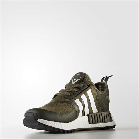 white mountaineering  adidas originals nmd  trail trace olivewhite cg