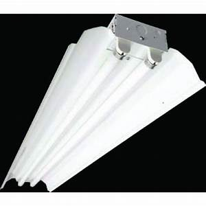 Fluorescent 439 industrial strip 2 lamp t8 32w 347v for 2 lamp t8 light fixtures