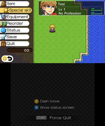 Place the items with your left you can test your game and see that the menu opens with the buttons in it, for all the items you have. RPG Maker Player for Nintendo 3DS - Nintendo Game Details