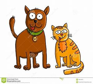 Dog And Cat Friends Clipart - ClipartXtras