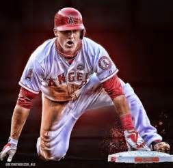 Mike Trout Angels Baseball