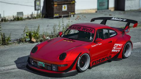 porsche   rwb rotana  add  replace