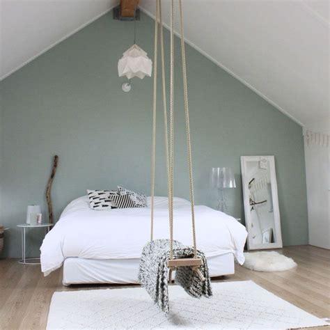 chambre mur vert tendance couleur le vert de gris mademoiselle claudine