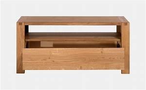 Petit Meuble Tele : petit meuble tv en ch ne massif sainbiose delorme meubles ~ Teatrodelosmanantiales.com Idées de Décoration
