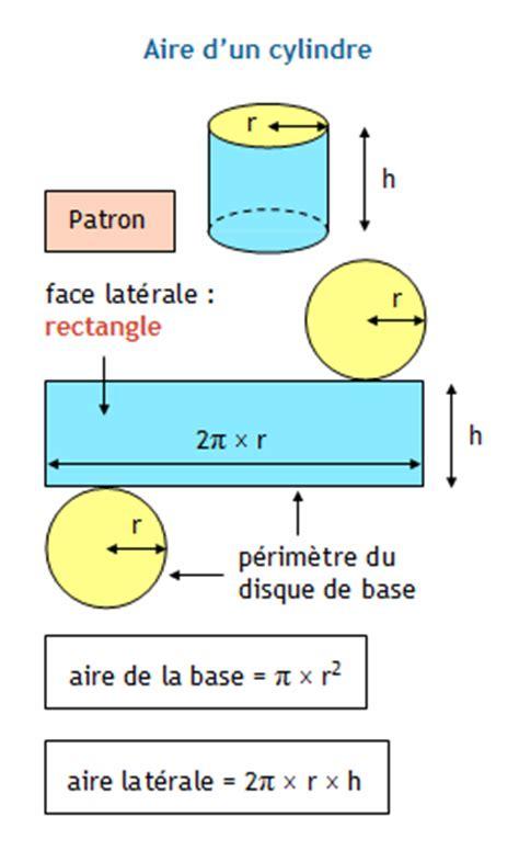 comment calculer la surface d une chambre formulaire de géométrie collège aire d 39 un cylindre creux