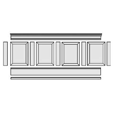 Buy Wainscoting Home Depot by Elite Trimworks Corp Rpw Kit 37 Quot H X 96 Quot L Adjustable