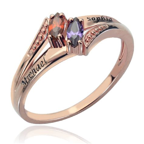 Engraved Double Birthstones Name Ring In Rose Gold. Tough Wedding Rings. Blogger Engagement Rings. Metal Wire Rings. Trillion Wedding Rings. Open Hexagon Engagement Rings. Rare Pink Diamond Engagement Rings. Art Nouveau Engagement Rings. Peacock Rings