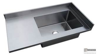 Copper Sinks With Drainboards by Stainless Steel 4 Finish Counter Top With Integrated Sink