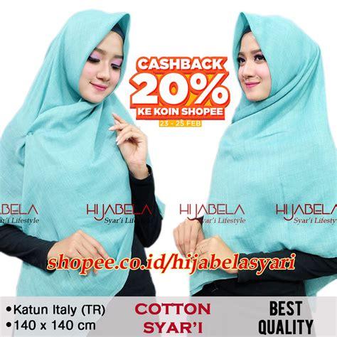 jilbab voal segi empat cotton syari umama scarf hijab jilbab kerudung jumbo shopee indonesia