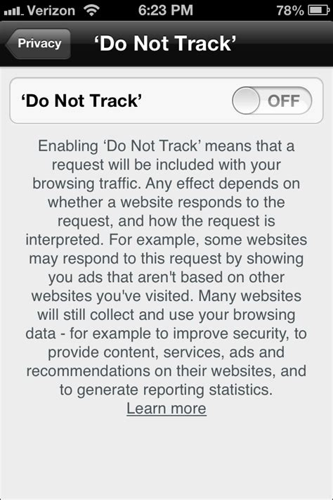 what does do not track on iphone privacy tips for the iphone page 2 appledystopia