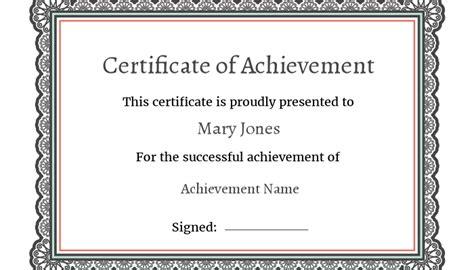 certificate  achievement  seconds