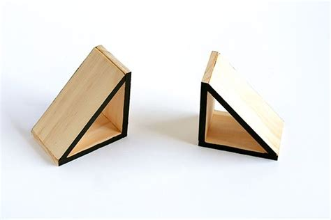 wood triangle bookends images