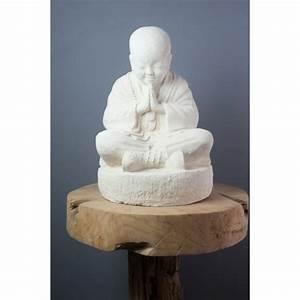 Statue Bouddha Maison Du Monde : petite statue moine shaolin blanc 37 cm ~ Teatrodelosmanantiales.com Idées de Décoration