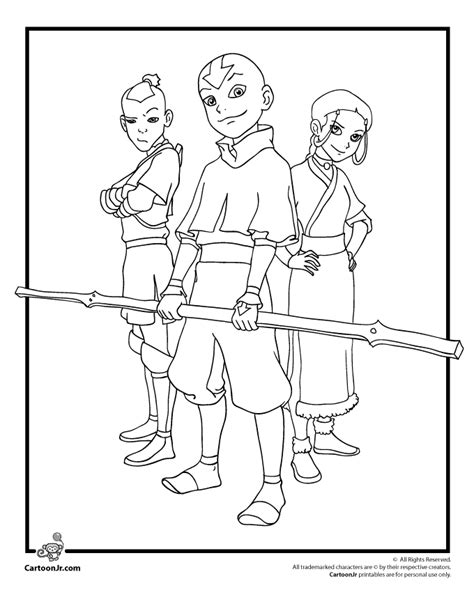 Avatar The Coloring Pages Coloring Home The Last Airbender Characters Coloring Home