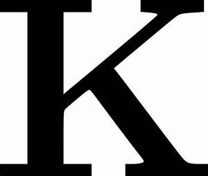 clipart cyrillic letter k With large letter k