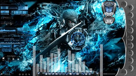 Rainmeter Animated Wallpaper - metal gear rising animated desktop for rainmeter by