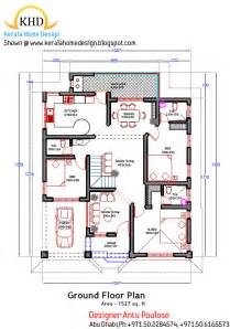 house plan layout home plan and elevation 1800 sq ft kerala house design idea