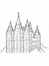 Temple Salt Lake Lds Coloring Primary Pages Drawing Line Temples Utah Gospel Clipart Outline Printable Mormon Print Saint Symbols Library sketch template