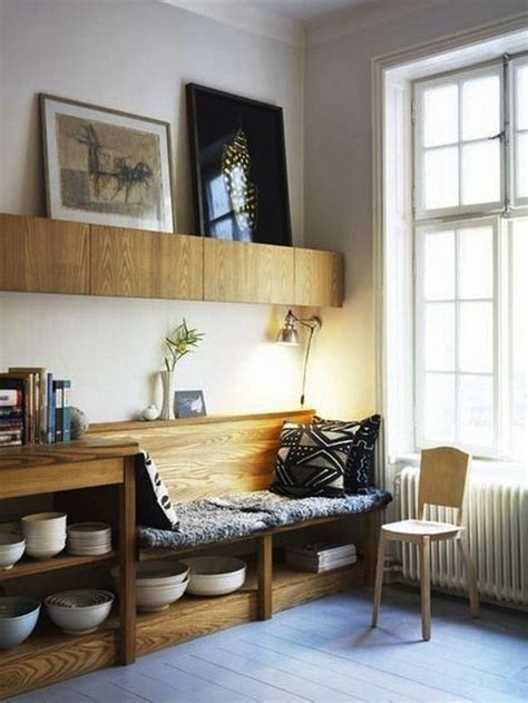 A window bench seat with storage makes the most of confined spaces. 10 Favorites: Under-the-Bench Kitchen Storage: Remodelista