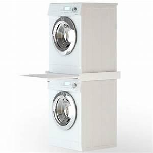 Unterbau Waschmaschine Mit Trockner : zwischenbausatz rahmen f r trockner auf waschmaschine mit ~ Michelbontemps.com Haus und Dekorationen