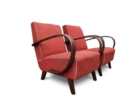 Poltrone Anni '30 Art Deco In Faggio Curvato