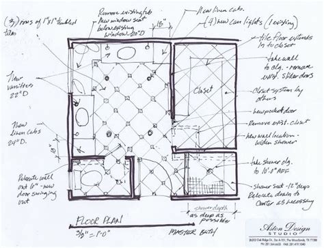 Moderne Badezimmer Grundrisse by Modern Master Bathroom Floor Plans No Tub Ideas Master