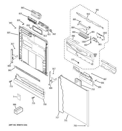 ge dishwasher parts model gldnbb sears partsdirect