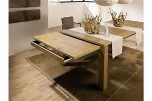 Table Salle A Manger 8 Personnes : table en chene massif design ~ Teatrodelosmanantiales.com Idées de Décoration