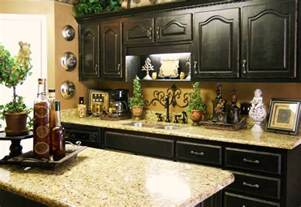kitchen countertop decorating ideas the black cabinets and the granite countertops beautiful kitchen my style