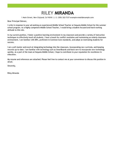 School Cover Letter by Outstanding Summer Cover Letter Exles