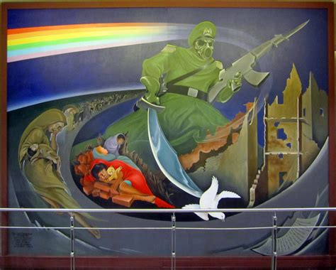 Denver Airport Murals Painted by Mysterious Murals And Monuments At The Denver Airport