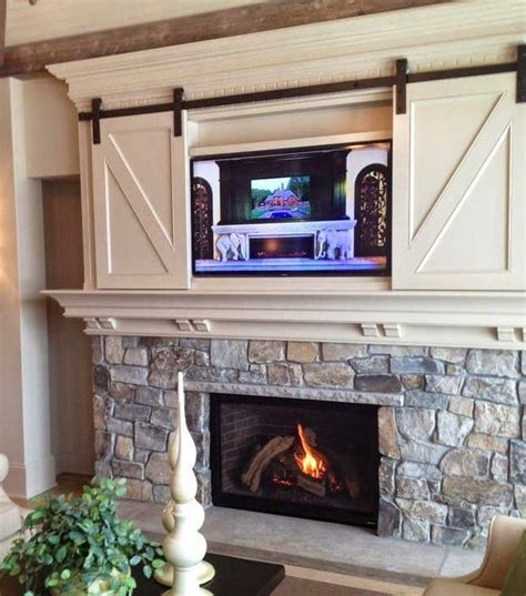 25  best ideas about Living Room With Fireplace on