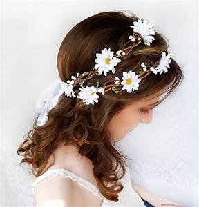 accessoires cheveux mariage ou bapteme pour bebe et enfants With chambre bébé design avec couronne de fleurs pour cheveux mariage