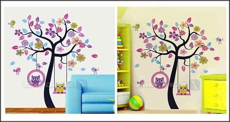 Wandtattoo Baum Kinderzimmer Eule  Kinderzimme House