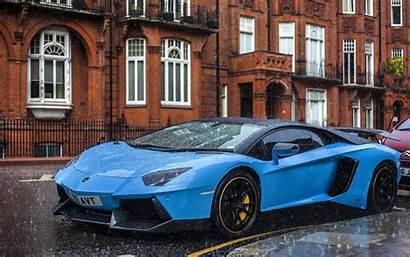 Lamborghini Rain Wallpapers Luxury Aventador Cars Cool