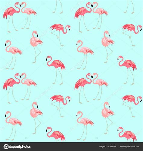 wallpaper  cute pink flamingo stock vector