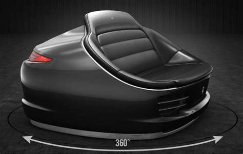Exotic 9Eleven sofa made from genuine Porsche 911 parts