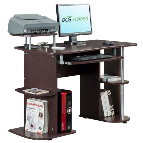 computer desk with laptop stand computer desk with elevated printer stand dcg stores