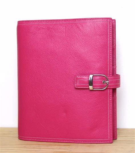 binder organizer for desk desk day timer pink real leather business planner