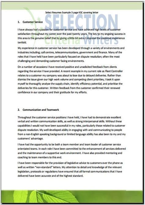 Selection Criteria Cover Letter by Simple Highlights Increase The Recognition Of Your