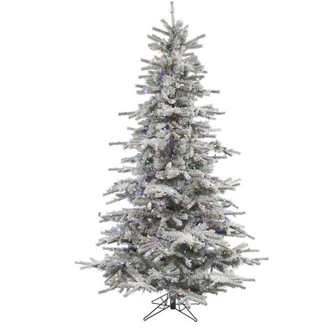 vickerman flocked sierra fir christmas tree flocked christmas trees artificial christmas trees