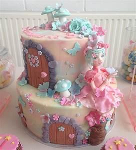 fairy theme birthday cake Crumbs Couture Cupcakes