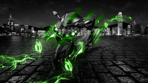 kawasaki zzr crystal energy bike  el tony