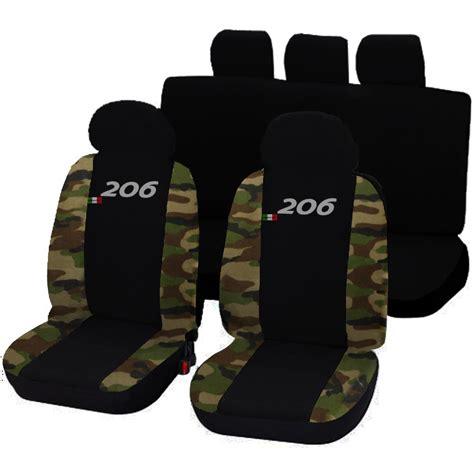 housse siege 206 housses de siege deux colores pour peugeot 206 noir