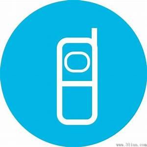 Blue phone icon vector Free vector in Adobe Illustrator ai ...