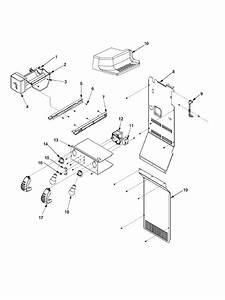 Lights And Ice Maker Diagram  U0026 Parts List For Model
